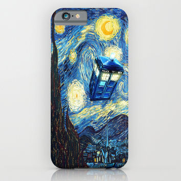 Soaring Blue phone Box oil painting iPhone & iPod Case by Greenlight8