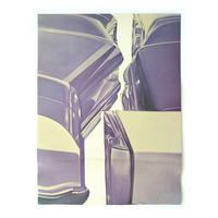 """James Rosenquist """"Ultraviolet Cars"""" poster, c.1970. Graphic design education by Reinhold Visuals"""