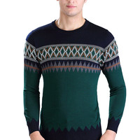 Geometric Printed Knitted Sweater