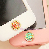 Bling iPhone home button sticker for iPhone iPad Cell by blingcase