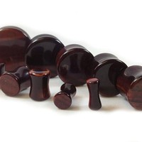 Stone Plugs Red Tiger Eye Organic - by the pair