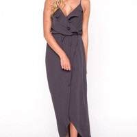 Ruffle Wrap Maxi Dress by EVERLY