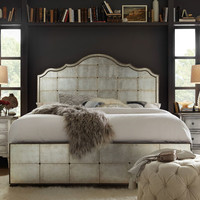 Hooker Furniture Visage Eglomise Mirrored Panel Bed, Queen