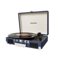 Portable Record Player in Blue