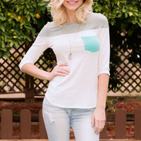 Always There Pocket Top - Teal