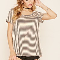 Striped Scoop Neck Top