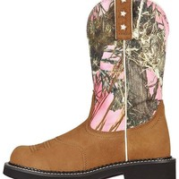 Ariat Probaby Pink Camo Cowgirl Boots - Round Toe - Sheplers
