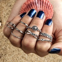 New Arrival Stylish Shiny Jewelry Gift Accessory Vintage Alloy Geometric Irregular Ring [11762575951]
