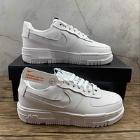 Morechoice Tuhy Nike Air Force 1 Pixel White Low Sneakers Casual Skaet Shoes CK6649-100