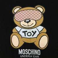 "Moschino Black ""Eyeshade Bear"" Fashion Women T Shirt"