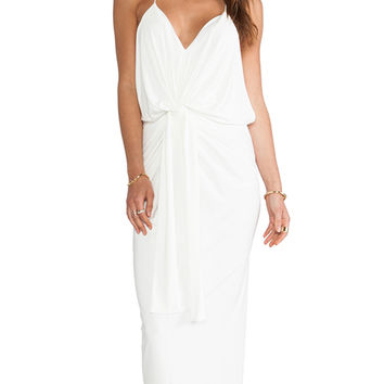 T-Bags LosAngeles Knot Front Maxi Dress in White