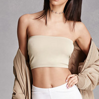 Stretch Knit Cropped Tube Top