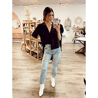 Distressed High Waisted Denim Jeans- FINAL SALE