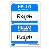 Ralph Hello My Name Is - Sheet of 2 Stickers
