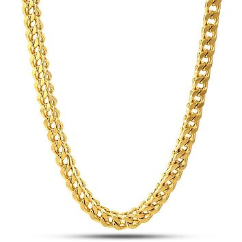 6mm 14K Gold Stainless Steel Franco Chain