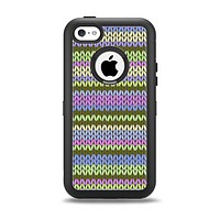 The Colorful Knit Pattern Apple iPhone 5c Otterbox Defender Case Skin Set