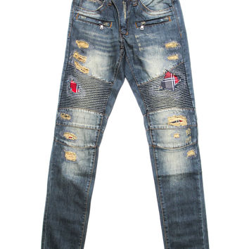 Embellish - Biker Denim (Ripped Flannel)