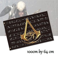 The Eye of Horus Cosplay flag for Assassins Creed Egypt Origins room decor decorative bar banners 100x64cm