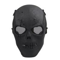TFBC Airsoft Mask Skull Full Protective Mask Military - Black
