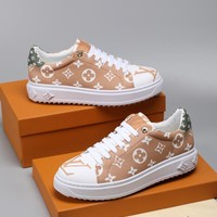 Louis Vuitton LV White BLANC/MOKA Time Out Sneaker - Best Deal Online