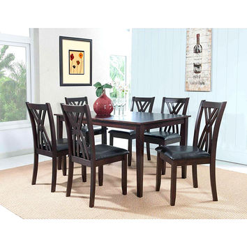 """Powell  Masten """"Espresso"""" 7 Pc Table and Chairs"""