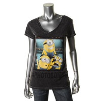 Despicable Me 2 Womens Minion Graphic Short Sleeves T-Shirt