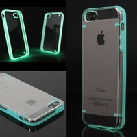 Luminous Style Glowing Hard Bumper Skin Back Case Cover For iPhone 5 5G 5th Blue:Amazon:Cell Phones & Accessories