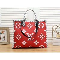 LV hot selling fashionable lady casual patchwork print single shoulder shopping bag #2