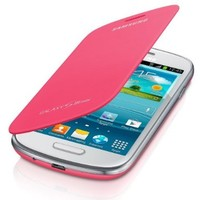 Samsung SM-EFC-1M7FPEGSTD Cell Phone Case for Samsung Galaxy S3 Mini - Retail Packaging (Pink)