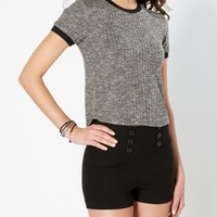 Black 90'S Chic Ribbed Tee | Crop Tops | rue21