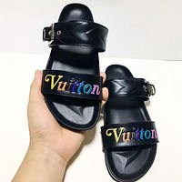 Louis Vuitton LV New Wave Quilted Flat Bottom Sandals Shoes