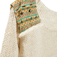 SWEATER WITH ETHNIC SHOULDER PADS - Cardigans and sweaters - Girl - Kids   ZARA Croatia