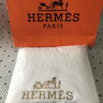 Hermes Bath towel + Towel Suit