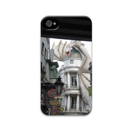 10% off Harry Potter iphone 5 case, Dragon iphone case, Diagon Alley, Gringotts Bank, Hogwarts iphone 4 case, Magic iphone case