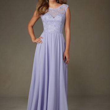 Beaded Lace with Chiffon Morilee Bridesmaid Dress   Style 125   Morilee