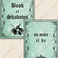 Book of Shadows Printable Journal Pages Witch Magic Digital Paper Download Stationery Healing Love Earth Wicca Grimoire Occult