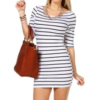 White/Black Stripe Tunic