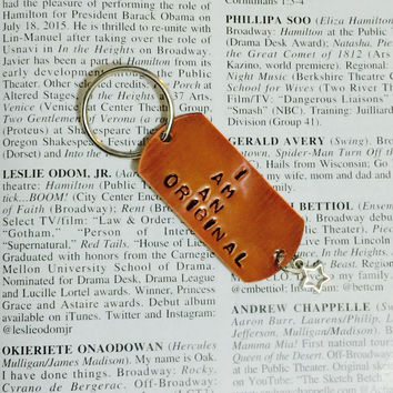 Hamilton The Musical Wait For It Stamped Charm Keychain
