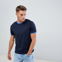 Pier One Contrast Rib T-Shirt In Blue at asos.com