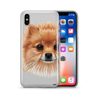 Pomsky Puppy  - Clear Case Cover