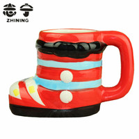 Creative ceramic coffee mugs cartoon shoes design shape water cups Christmas gift home decoration drinkware free shipping Y-165