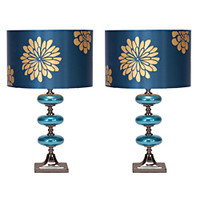 Casa Cortes Costa Azul 23-inch Table Lamps (Set of 2)