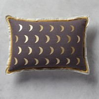 """Moonphase Pillow by Anthropologie in Dark Grey Size: 12"""" X 18""""  Pillows"""