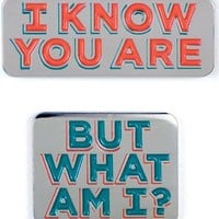 I Know You Are & But What Am I Pee-wee Herman Enamel Pin Set - LAST ONE!