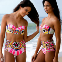 Bandage High Waist Bikini Set Swimwear