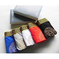 Versace Popular Men Embroidery Cotton Underwear(7-Color)