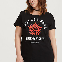 Black 'Supernatural Join The Hunt' Graphic Cotton Tee