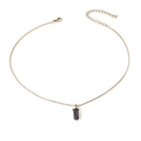 Faceted Crystal Pendant Necklace