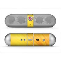 The Orange Abstract Wave Texture Skin for the Beats by Dre Pill Bluetooth Speaker