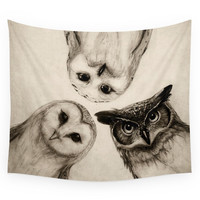 Society6 The Owl's 3 Wall Tapestry